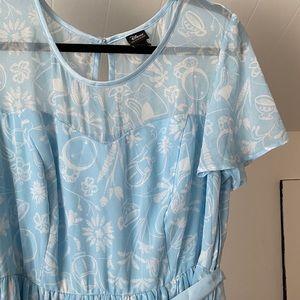 Her Universe Disney Alice Garden Print Dress